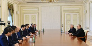 Aliyev, Bakan Çelik'i Kabul Etti