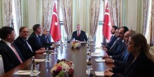 Cumhurbaşkanı Erdoğan, Atlantik Konseyi Yönetim Kurulu'nu Kabul Etti