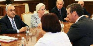 Bakan Fakıbaba, Sırbistan Cumhurbaşkanı Aleksandar Vucic ile görüştü