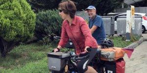 Alman çift bisikletle dünyayı turluyor