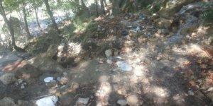 Savruk Şelalesinde sonbahar temizliği