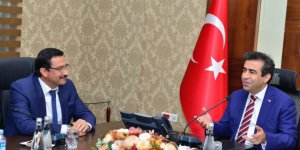 Vali Güzeloğlu, Keçiören Belediye Başkanı Ak'ı kabul etti