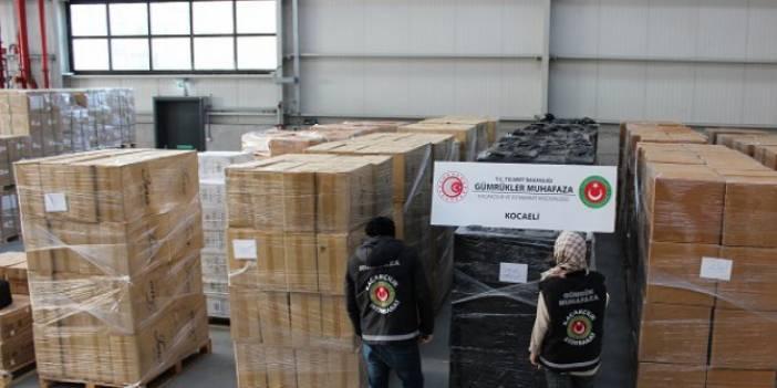 Kocaeli'nde 624 Bin Paket Kaçak Sigara Ele Geçirildi