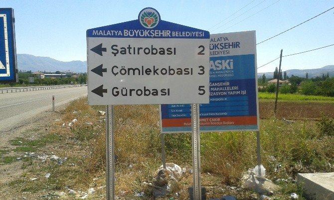 Doğanşehir'de Levhalama Çalışması Tamamlandı