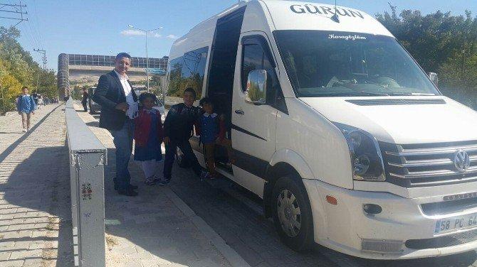 Gürün'de Okul Servis Araçları Denetlendi