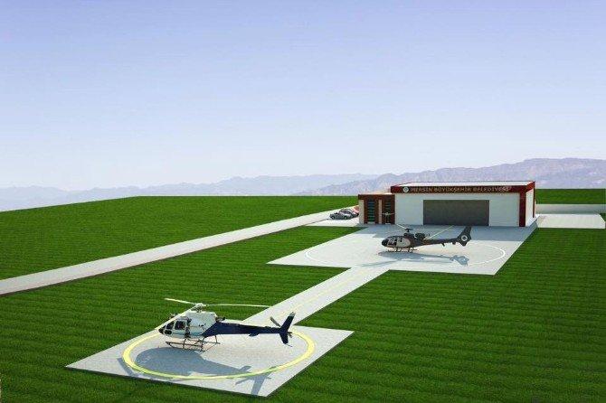 Başkan Kocamaz, Helikopter Pisti İnşaatında İncelemelerde Bulundu