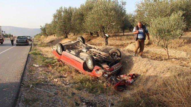 Mut'ta Trafik Kazası: 2 Yaralı
