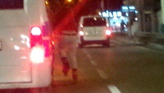 Patenli Çocuğun 130 Kilometre Hızda Tehlikeli Yolculuğu...