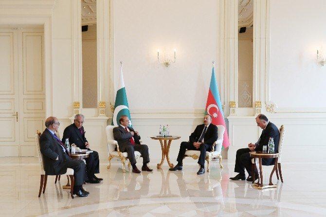 Pakistan Başbakanı Navaz Şerif, Azerbaycan Cumhurbaşkanı Aliyev İle Görüştü