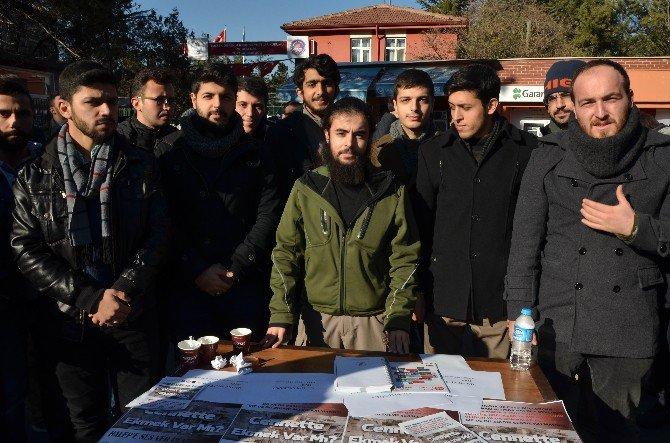Üniversitelilerden Halep'e Yardım Kampanyası