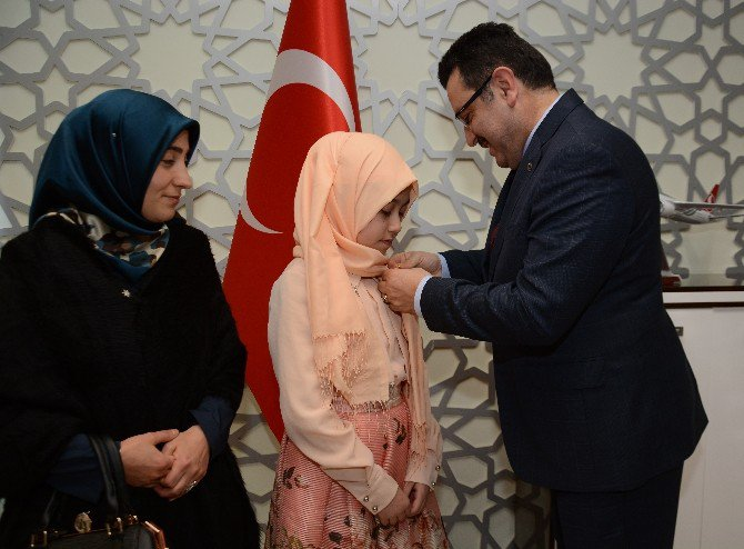 Trabzonlu Küçük Hafızlar Cumhurbaşkanlığı Külliyesi'nde Ağırlandı
