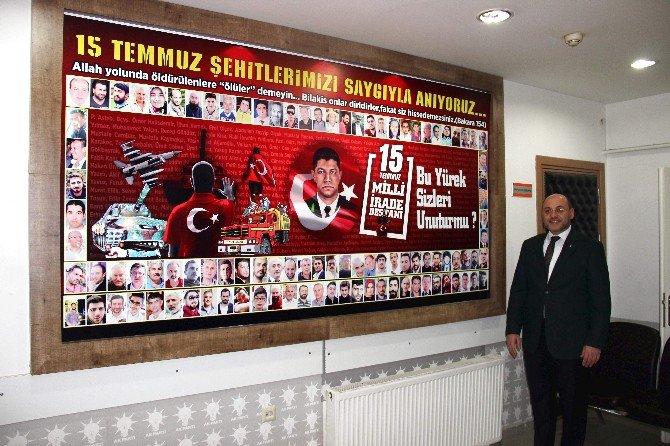 Ak Parti Kütahya İl Başkanlığı'nda '15 Temmuz Şehitleri Köşesi' Oluşturuldu