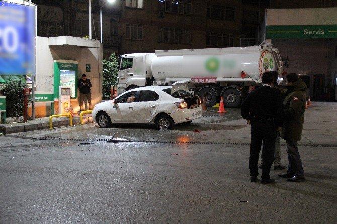 Çağlayan'da Benzin İstasyonuna Eyp'li Saldırı