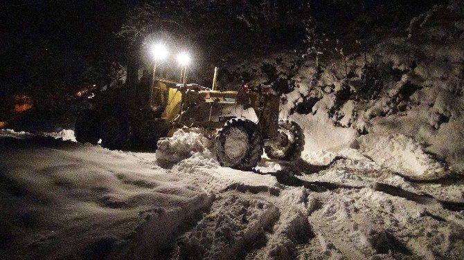 Trabzon'da Kar Nedeniyle Kapanan Yollar Açıldı