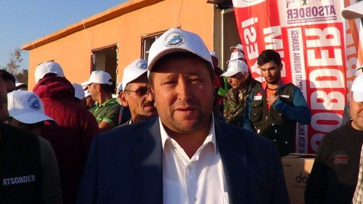 """Akharım Beldesinde """"Sportif Sazan Balığı Yakalama Yarışması"""" başladı"""