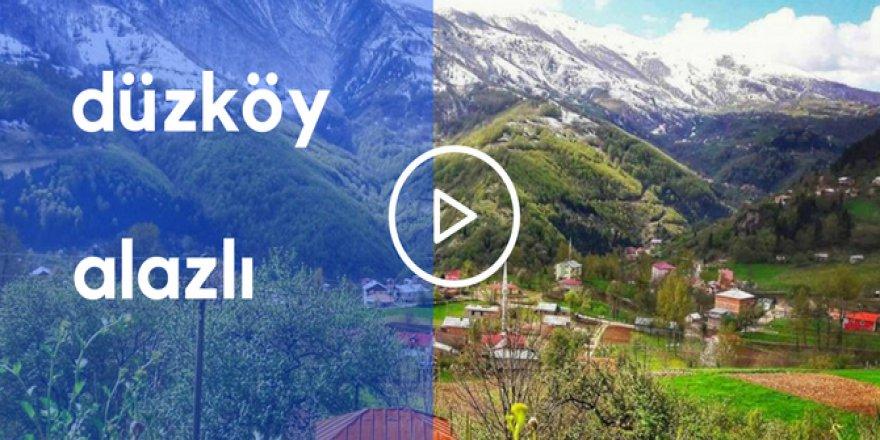 Düzköy Alazlı Köyü Video