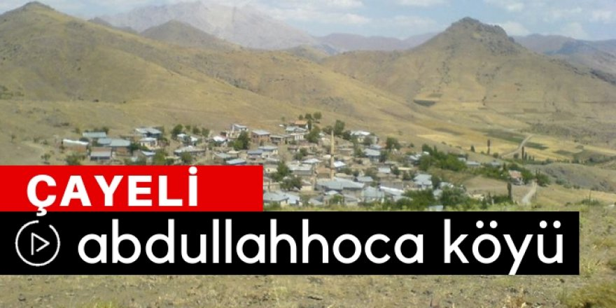 Çayeli Abdullahhoca Köyü Video